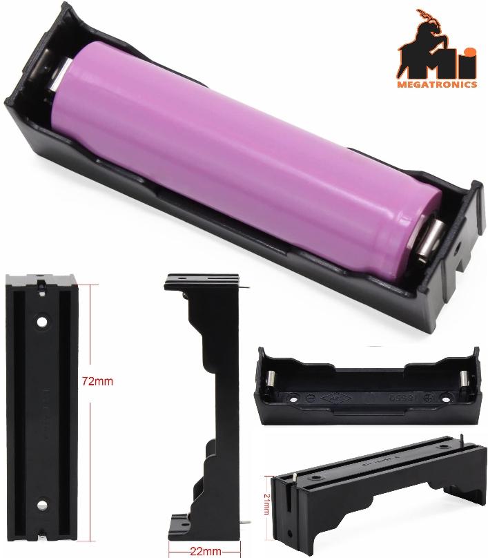 1S 3.7V 18650 Battery Holder Case mount PCB Storag