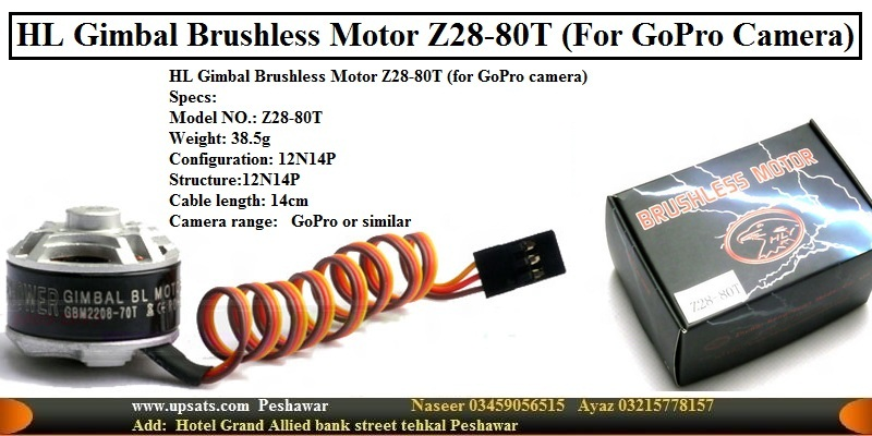 Hengli HL Gimbal Brushless Motor Z28-80T (For GoPr