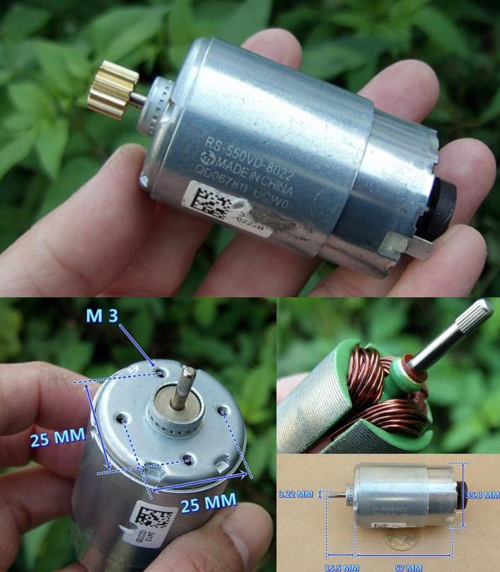 DC 12V 18600RPM high speed DIY hand drill motor