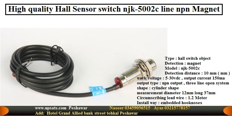 Hall sensor Proximity Switch NJK-5002C NPN 3 Wires