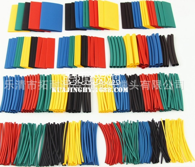 10x80mm 5 pieces heat shrink tube 5 colors