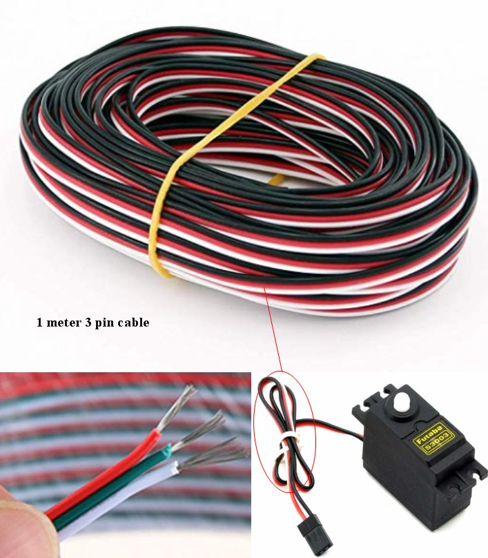 22AWG 3p line 1M jumper cable wire Servo ESC RC