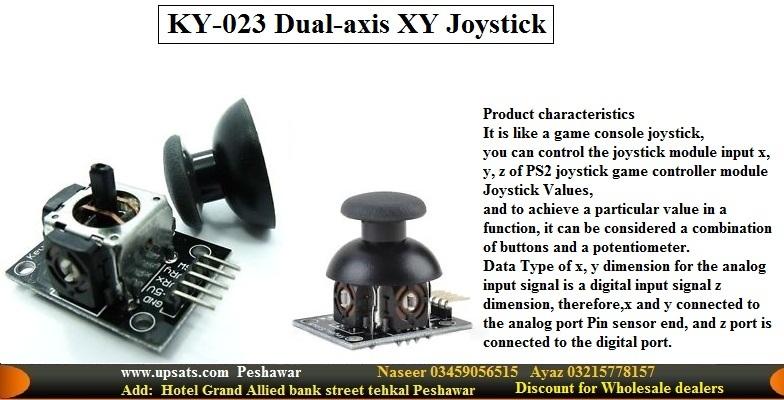 Dual-axis XY JoyStick Gear Arduino Raspberry