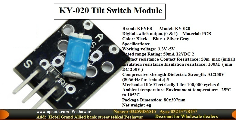 tilt switch sensor ky 020 module black edc 272947