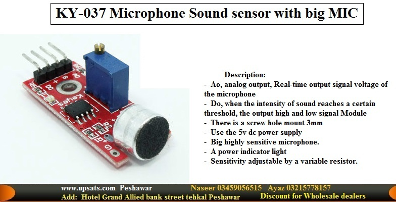 High Sensitivity Microphone Sound Detection Module