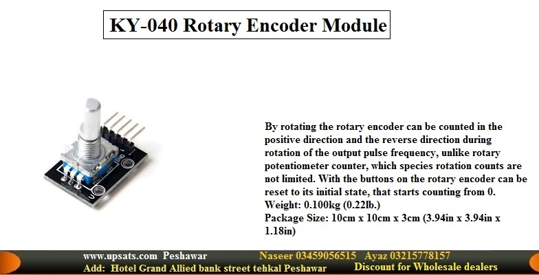 Rotary Encoder Module KY-040, 360 Degree Rotation