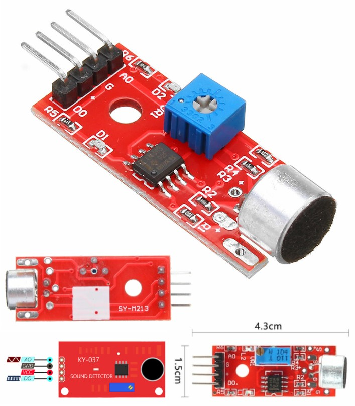 Sensitivity Microphone Sound voice Detection Modul