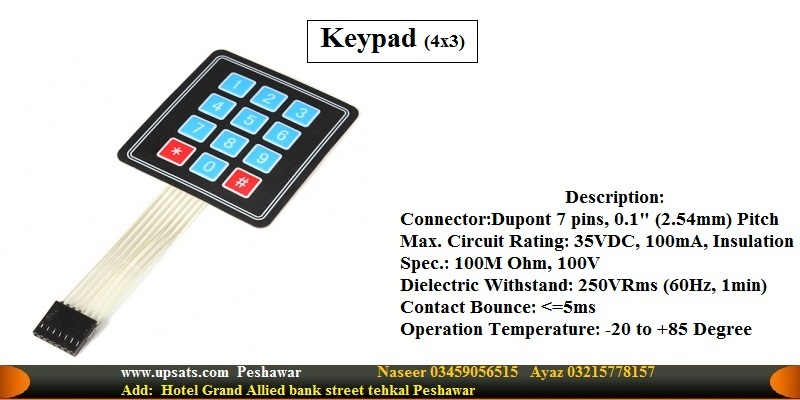 Keypad 4x3 Matrix Array 12 Keys