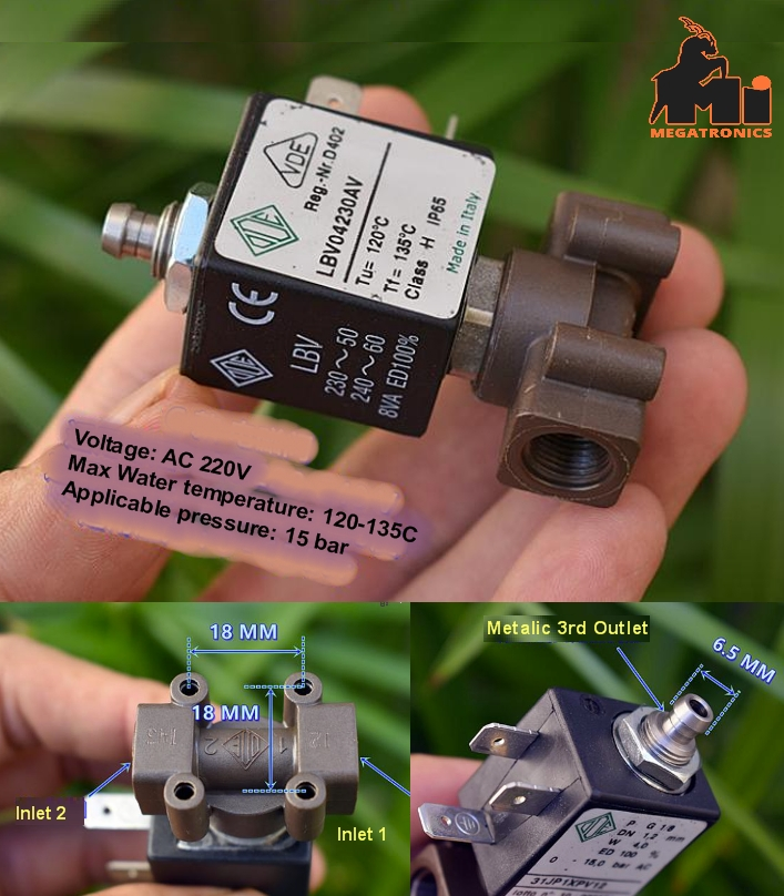 ODE three-way solenoid valve normally open/closed