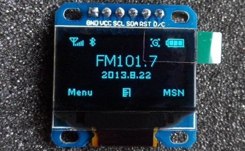 "LCD Display Module 128x64 OLED 0.96"" SPI BLUE"