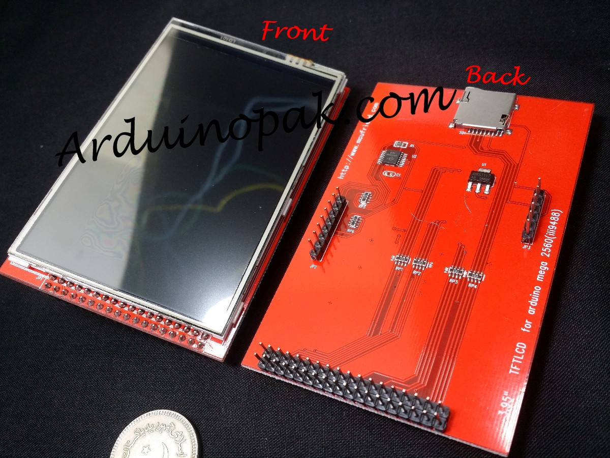 "TFT 3.95"" touch LCD screen for Arduino MEGA2560"