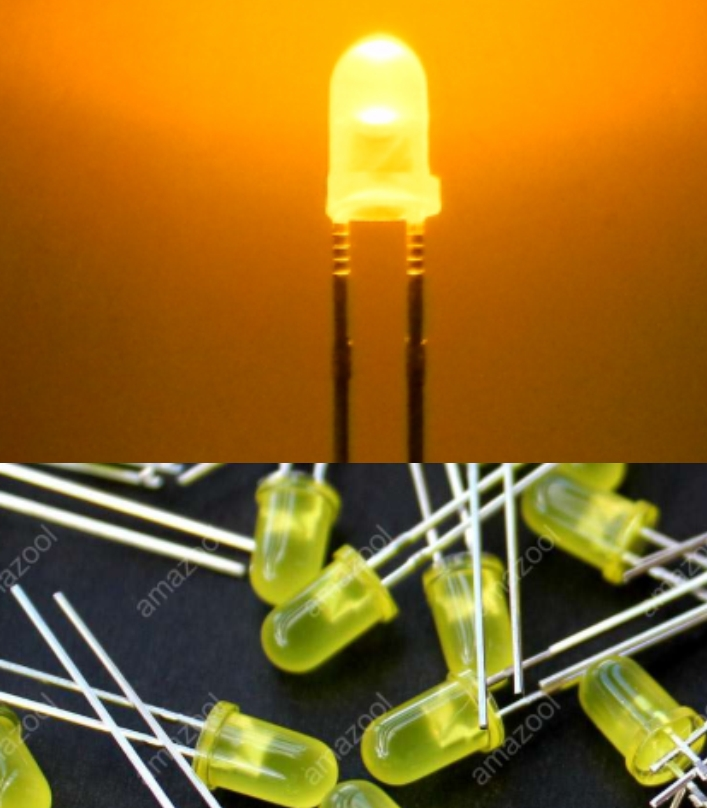 3mm LED yellow High intensity