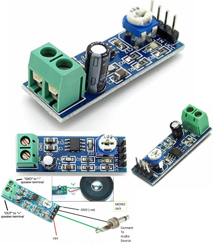 LM386 Audio 200 times gain Amplifier Module