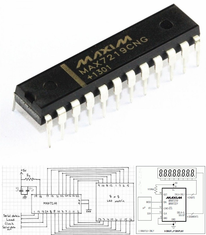 MAX7219 LED Display Driver IC