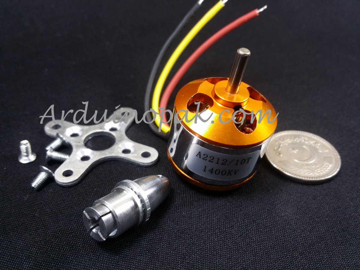 A2212 1400KV Outrunner Bruhless motor + Parts