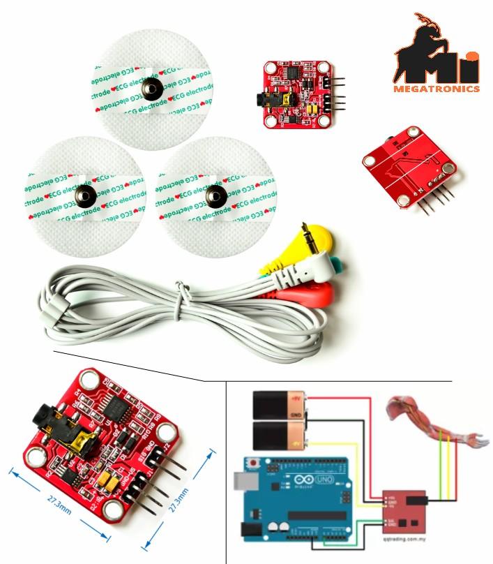 Muscle signal sensor EMG Sensor for Arduino Raspbe