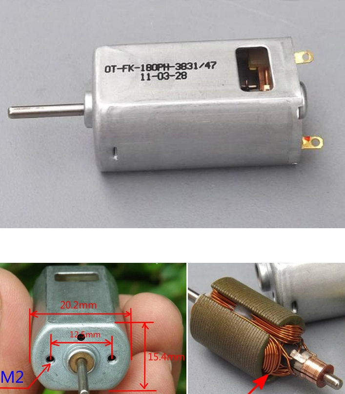 standard small dc 5v motor for DIY high speed airc