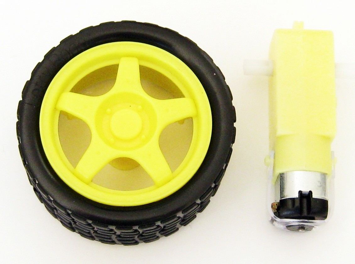 Chassis yellow Motor with Gearbox+Wheel Unit