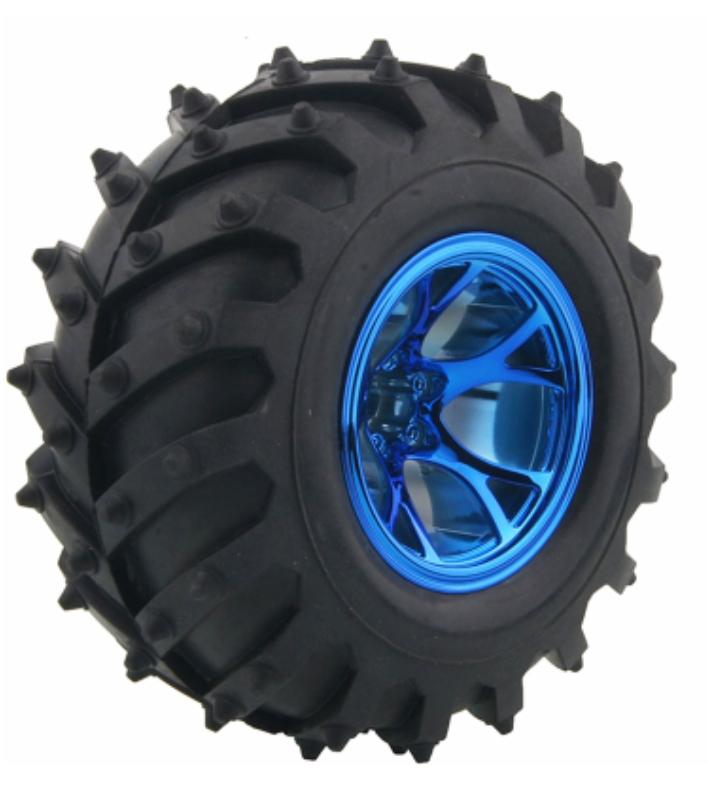 1/10 Monster Truck Tire Tyres Blue for Traxxas HSP