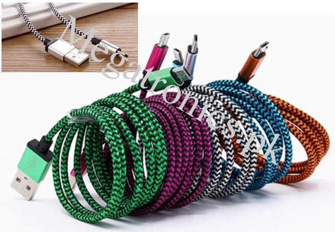 Nylon Braided micro USB 2A fast charge/ data cable