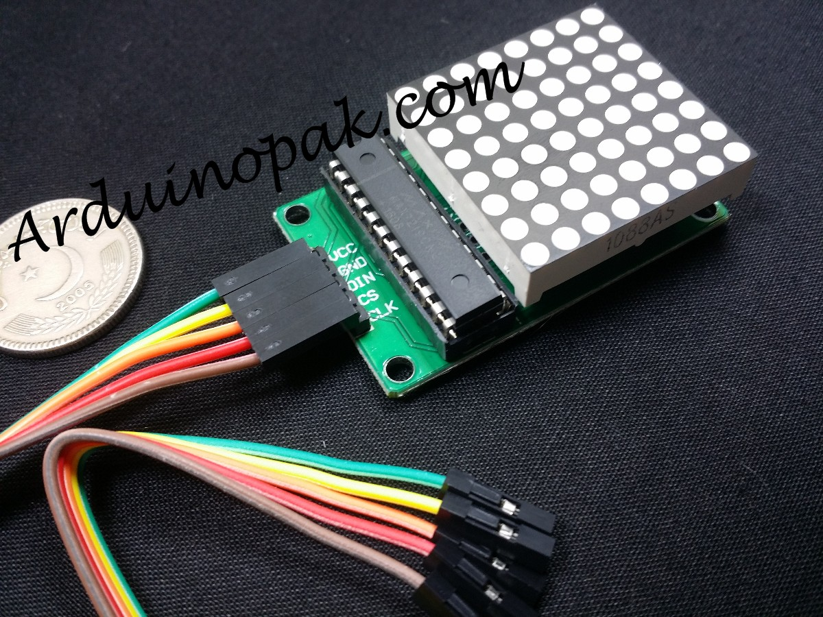 MAX7219 Red Dot Matrix Module with wires