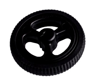 N20 motor rubber wheel diameter 34mm black