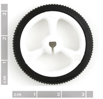 N20 motor rubber wheel diameter 34mm white
