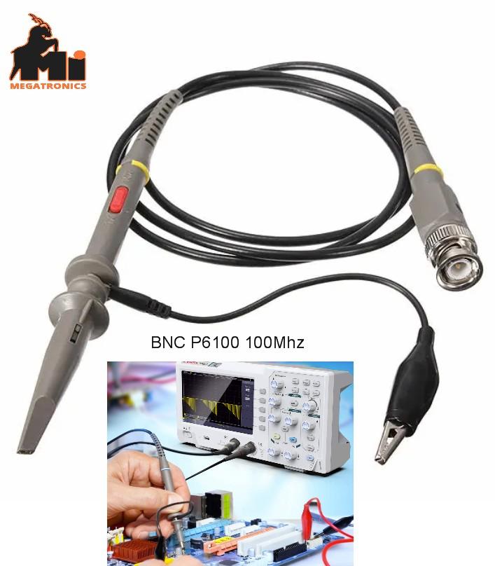 P6100 100MHz Oscilloscope Clip Probe lead BNC to M
