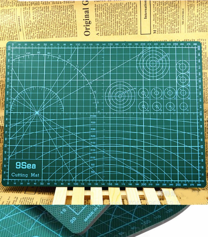 DIY A3 Cutting Mat Rubber Stamp Sculpture assistan
