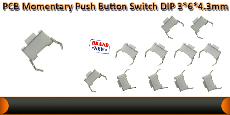 Push button switch DIP  3*6*4.3mm  Black