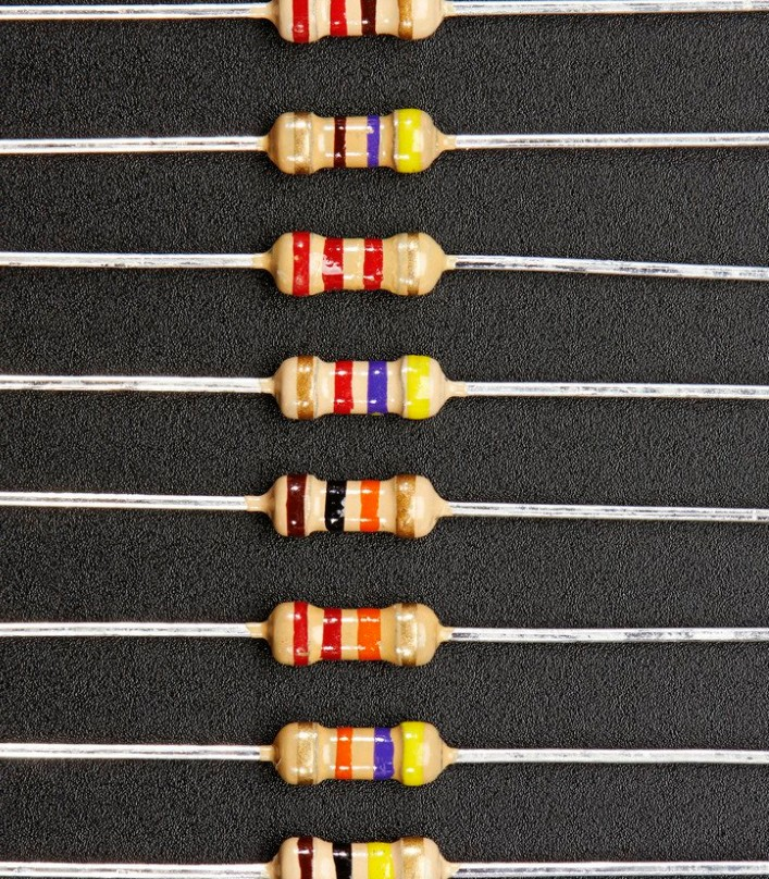 1 ohm Through Hole Resistor 5% 1/4W