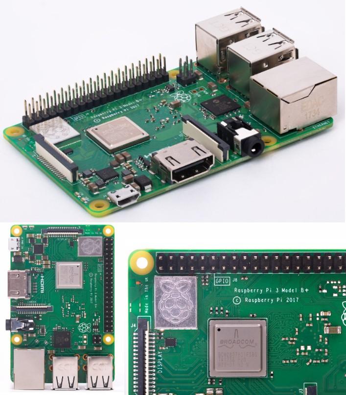 Raspberry Pi3 Modle B+ 1.4GHz 64-bit quad-core pro