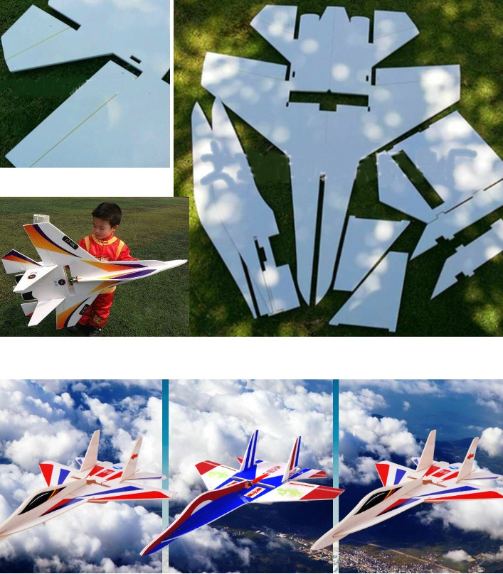 Su-27 RC Airplane KT Board Aircraft DIY Flanker la