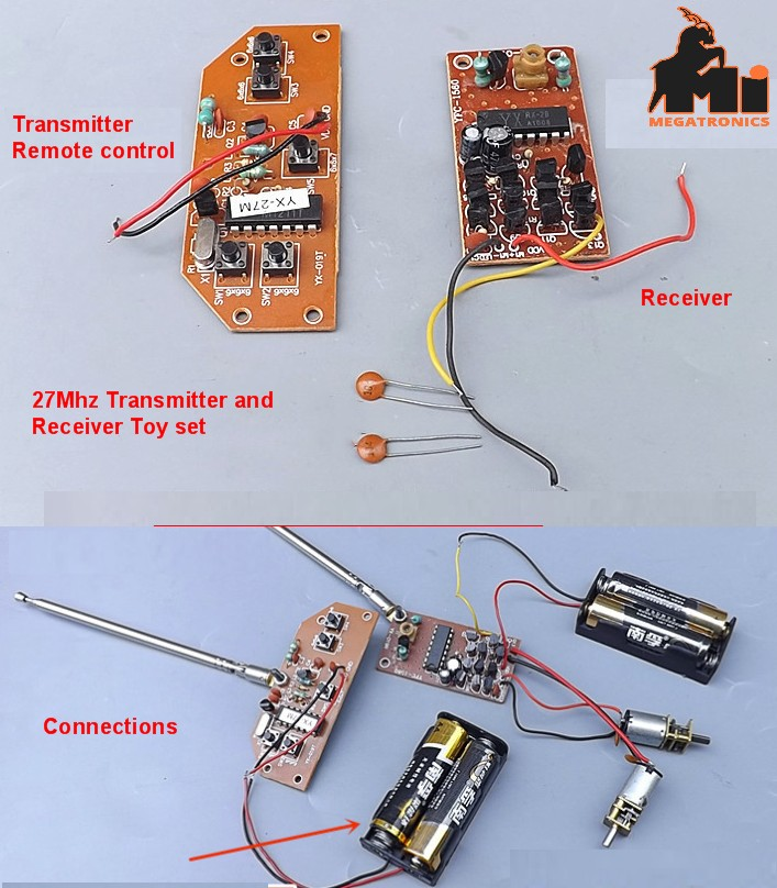 27Mhz Transmitter and receiver set for toys