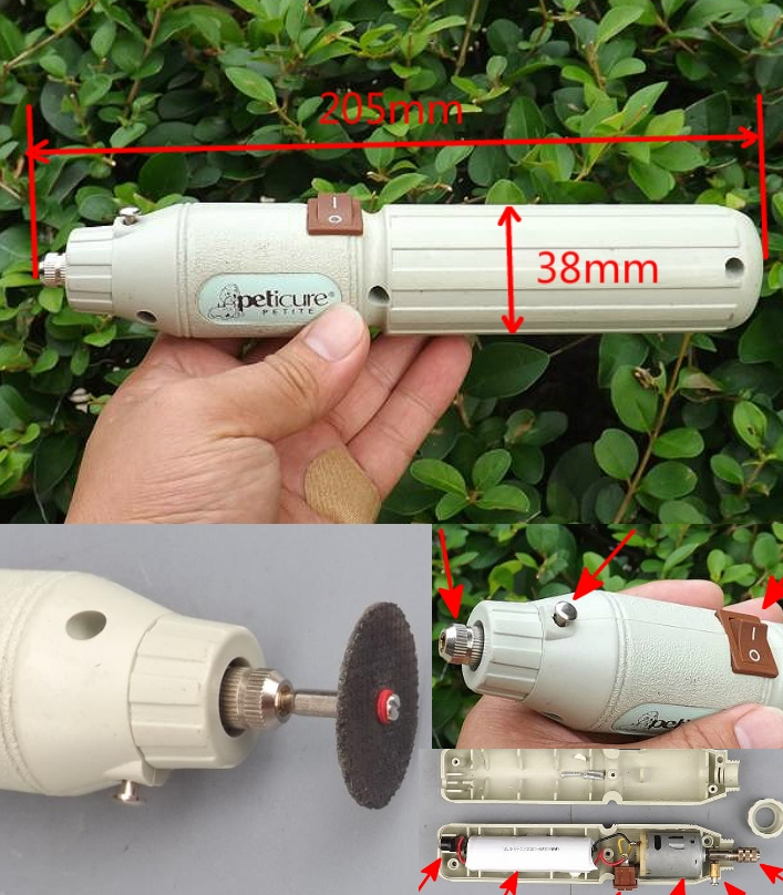 DIY small rechargeable drill and grinder