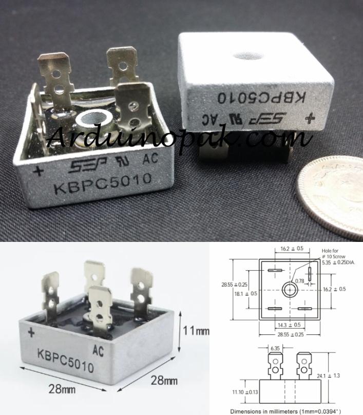 KBPC5010 50A 1000V Bridge Rectifier