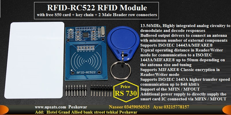 MFRC 522 RC522 RFID card Reader writer module