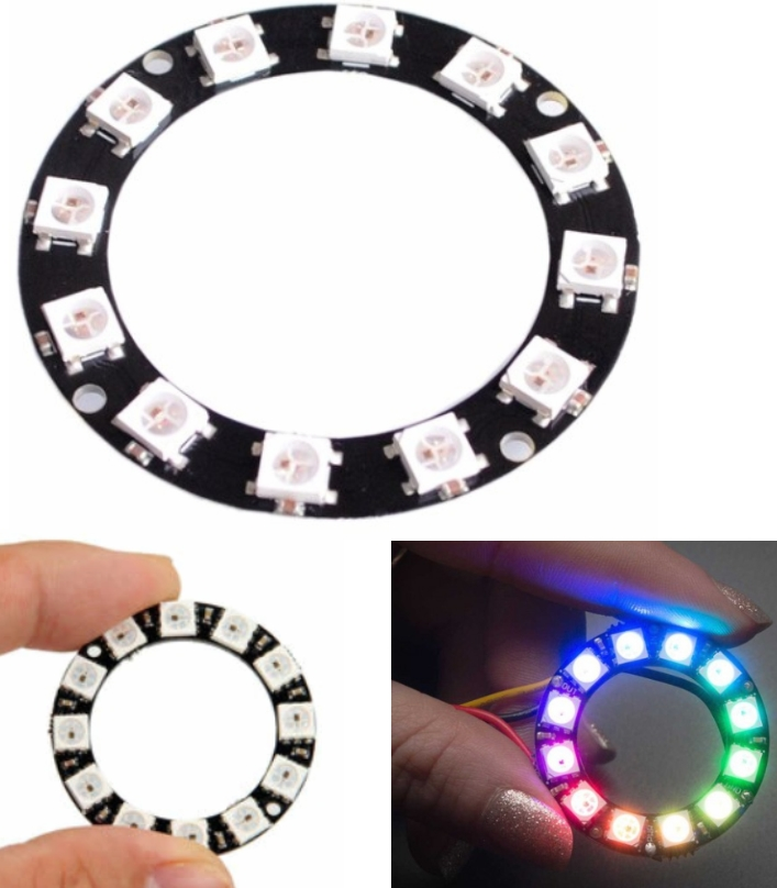 RGB LED Ring 12Bit WS2812 5050 Integrated Driver