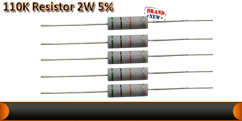 2W  5%  resistor   110K