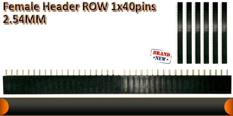 Female header rows 1x40pins  2.54MM