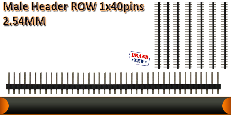 Male header rows 1x40pins  2.54MM