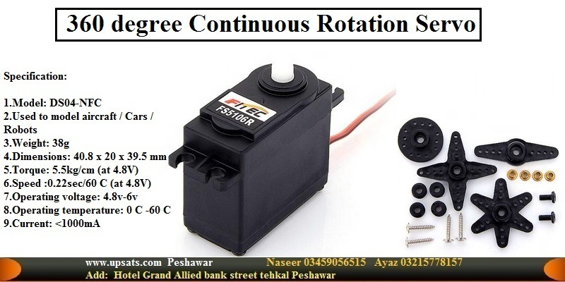 powerfull 360-degrees continuous rotation servo en
