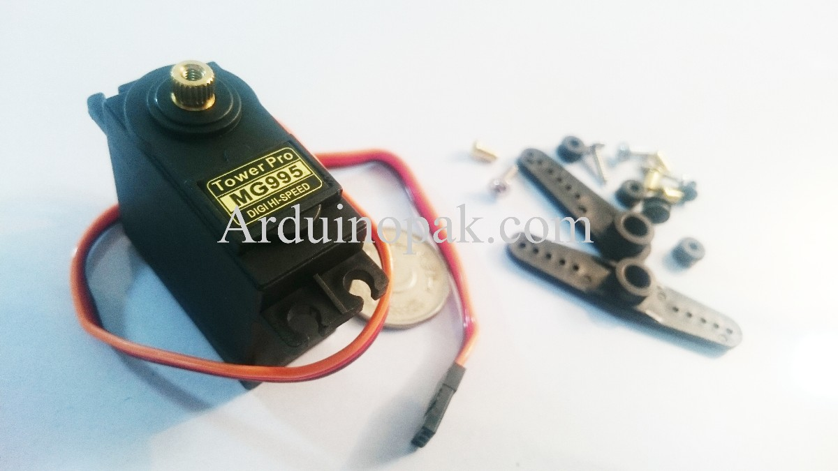 Towerpro MG995 Metal gear Servo motor with Parts (