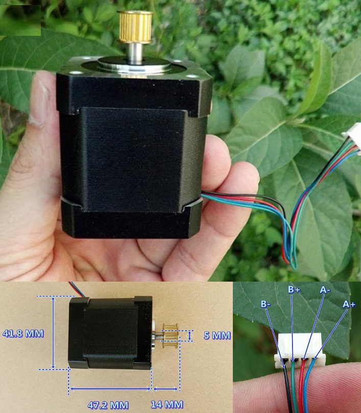 42H47HM Stepper motor Two phase high torque 0.5Nm