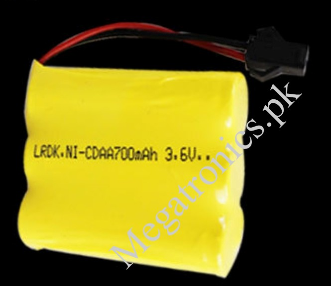 3.7V 700mAh Ni-Cd AA Battery Packs SM 2P Plug