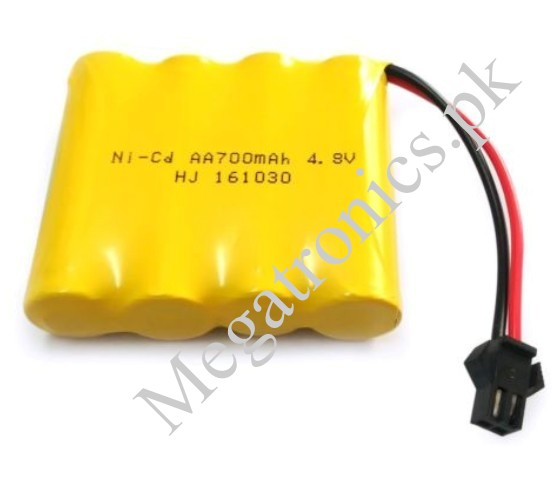 4.8V 700mAh Ni-Cd AA Battery Packs SM 2P Plug