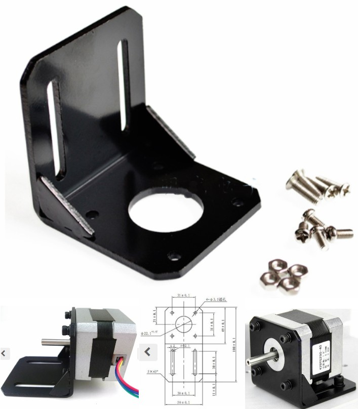 Stepper motor mounting bracket for 42 series