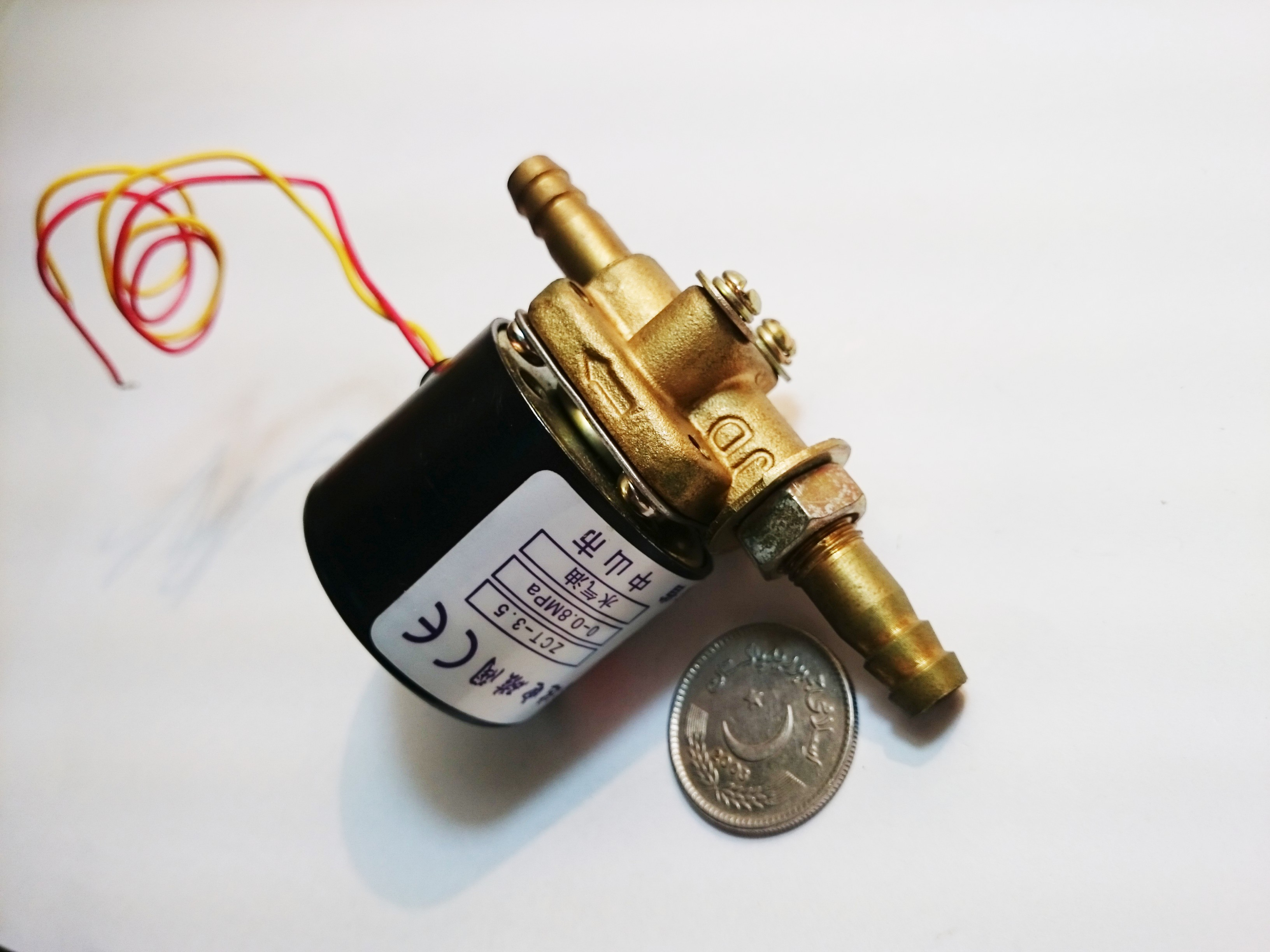 12V DC Normally closed gas solenoid valve  with 2p