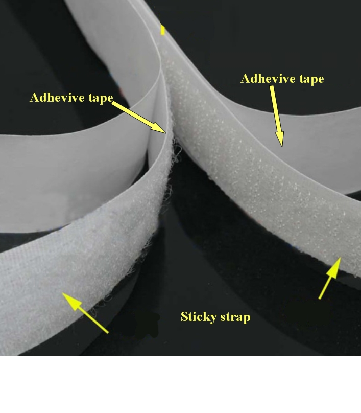 Velcro Back Adhesive tape hook and loop fastener