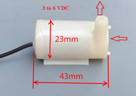 mini submersible water pump 5V motor